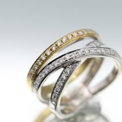 Triple Diamond Ring 0.50 Carat Diamonds
