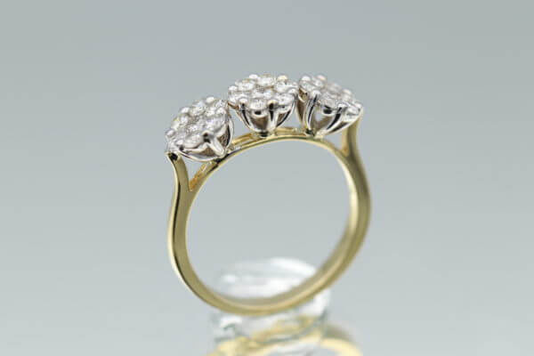 Trio Diamond Ring 1.60 Carat Diamond