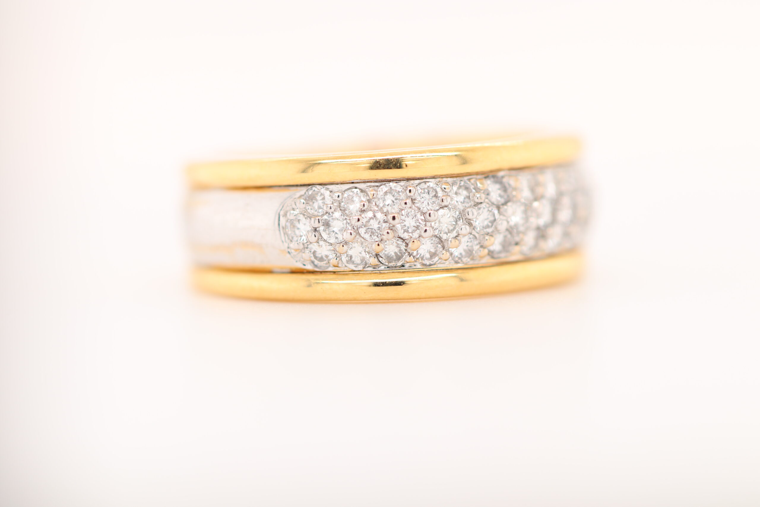 Triple Row Diamond Ring