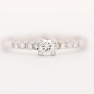 Side Diamonds Engagement Ring